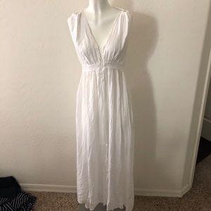 Rio beach white maxi dress